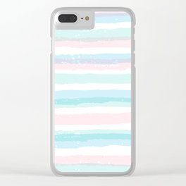 Pastel Stripe Wave Clear iPhone Case