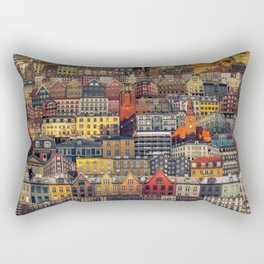 Copenhagen Facades Rectangular Pillow