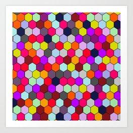 Sweet Honey Hexacomb Art Print