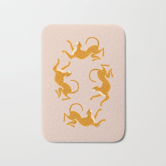 Leopard Race - pink Bath Mat