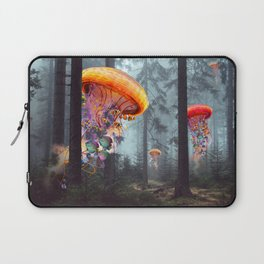 ElectricJellyfish Worlds in a Forest Laptop Sleeve