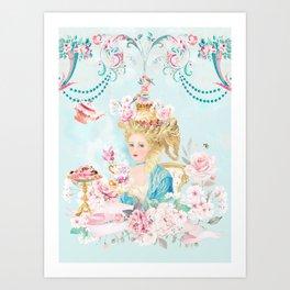 Marie Antoinette Hot Tea Art Print
