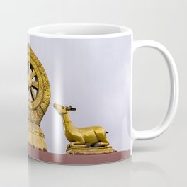 Tibet: Rooftop Dharma wheel Coffee Mug