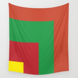 Very squared and precise and rectangular. Very very angular crafted shapes. Nothing else to say. Wall Tapestry