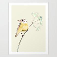 Yellow bird 2 Art Print