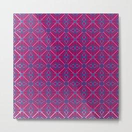 Pink Wind Rose Metal Print