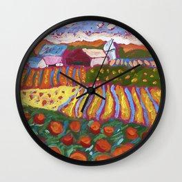 Iowa Barn Wall Clock