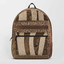 Gold Lioness Safari Chic Backpack