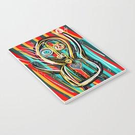 Blue heart Street Art Graffiti Notebook
