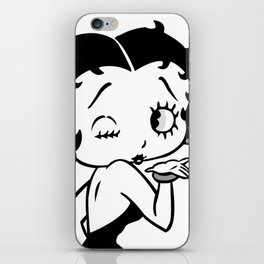 Betty Boop Tease Kiss (Black & White) iPhone Skin