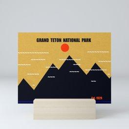 Grand Teton National Park Mini Art Print