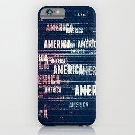 America Typographic Design iPhone Case