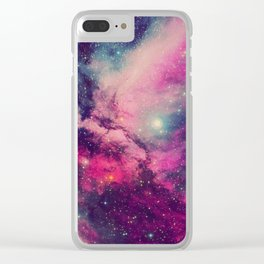 Purple Twilight Galaxy Clear iPhone Case