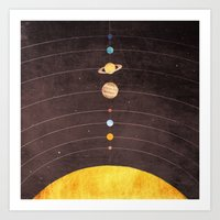 Art Prints featuring Solar System by Annisa Tiara Utami