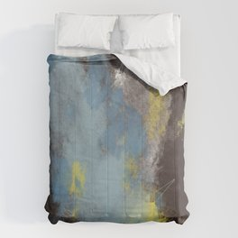 Breaking into the sky//yellow, brown, coffee, blue// Comforters