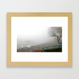 Walking on broken glass  Framed Art Print