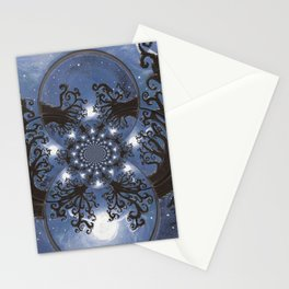 Full moon Fantasy Abstract Stationery Cards