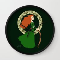 merida Wall Clocks featuring Merida  by Cantabile
