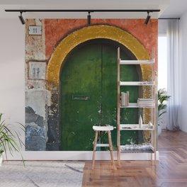 Magic Green Door in Sicily Wall Mural