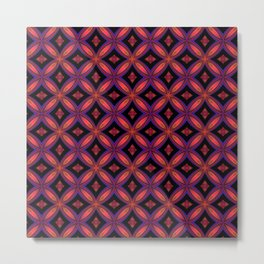 Red and Black Geometric Shapes Metal Print