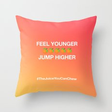 #TheJuiceYouCanChew Throw Pillow