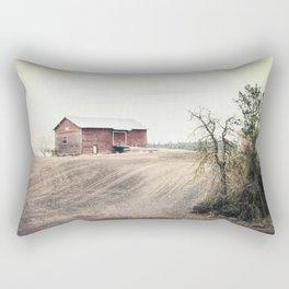 Red Barn Rectangular Pillow
