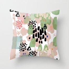 spring 2 modern contemporary Throw Pillow