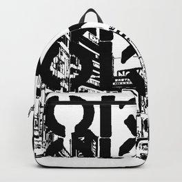 Tokyo Japan Black White Backpack