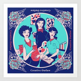 Women Artists (Creative Outlaws) Art Print