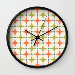 Mid Century Modern Star Pattern 822 Wall Clock