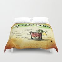 cocktail Duvet Covers featuring Cocktail by WonderfulDreamPicture