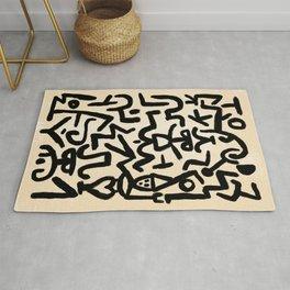 Klee's Comedians Handbill Rug