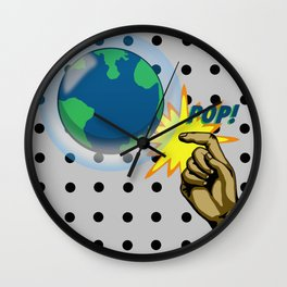 Don't Pop the Ozone Layer Wall Clock