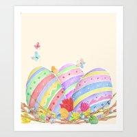 Easter Eggs Art Print