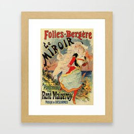 French belle epoque mime theatre advertising Framed Art Print