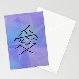 Polygonal love Stationery Cards