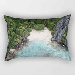 Isolated Beach Rectangular Pillow