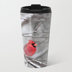 Quiet Time in the Snowy Woods Metal Travel Mug