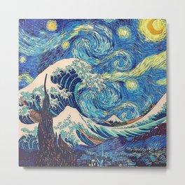 Starry Night (Sun&Water) Metal Print