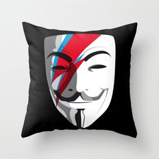 Who wants to be Anonymous? Let's be Fabulous! Viggy Starfawkes. Throw Pillow
