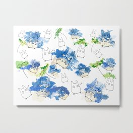 My Neighbour Pattern (White)  Metal Print
