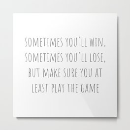Play The Game Metal Print