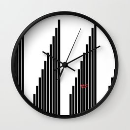 STRIPED SYMPHONY - Black and White #minimal #art #design #kirovair #buyart #decor #home Wall Clock