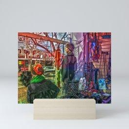 Moonflower Boutique Display Window Mini Art Print