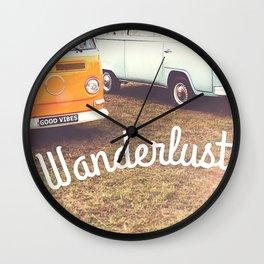 Wanderlust - Good Vibes Only Wall Clock