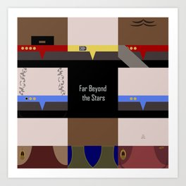 DS9 - Far Beyond the Stars - square - Minimalist Star Trek DS9 Deep Space Nine - Crew Art Print