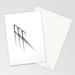 """ Eclipse Collection"" - Minimal Letter R Print Stationery Cards"