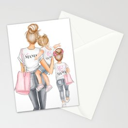 I got it from my mama 2 girls red heads Stationery Cards