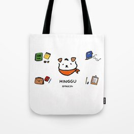 Hinggu_Note_Korea Jindo Dog illustration Tote Bag