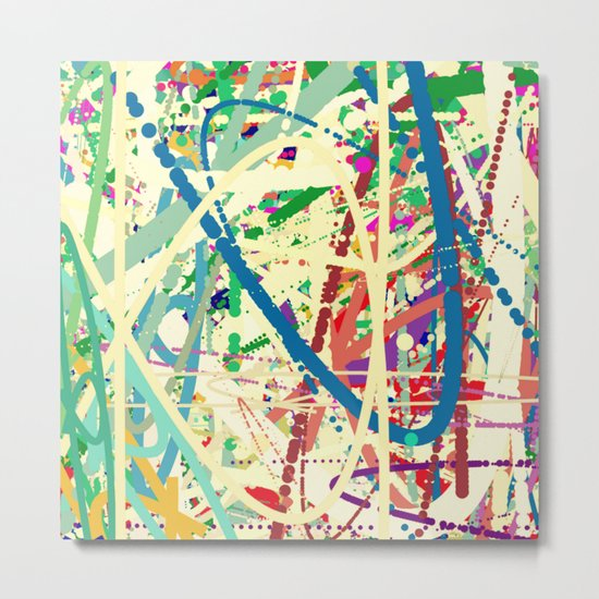 An Homage to Pollock Metal Print